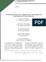 Individual Antecedents