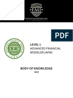 Advanced Financial Modeler - Body of Knowledge 2017