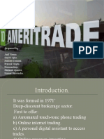 Cost of Capital at Ameritrade