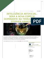 Inteligência Artificial Será a Nova Especie Dominante