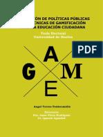Evaluacion de Politicas Publicas Con Tecnicas de Gamificacion Para La Educacion Ciudadana