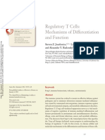 Regulatory T Cells. Mechanisms of Differentiation and Function. 2012