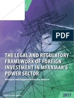 The Legal and Regulatory Framework of Foreign Investment in Myanmar's Power Sector