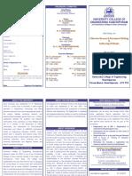 BOOK WRITING 2K17 Workshop Brochure