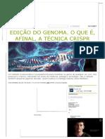 Edição Do Genoma
