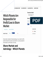 Which Planets Are Responsible for Profit_Loss in Share Market