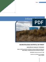 Informe Pruebas Hidráulicas POROY