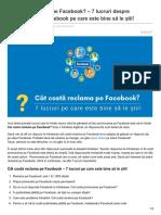 cat Costa Reclama Pe Facebook 7 Lucruri Despre Promovarea Pe Facebook Pe Care Este Bine Să Le Știi