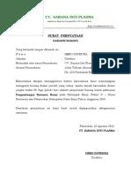 Surat Pernyataan Garansi