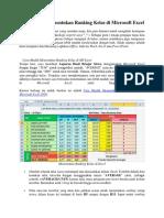 Cara Mudah Menentukan Ranking Kelas Di Microsoft Excel