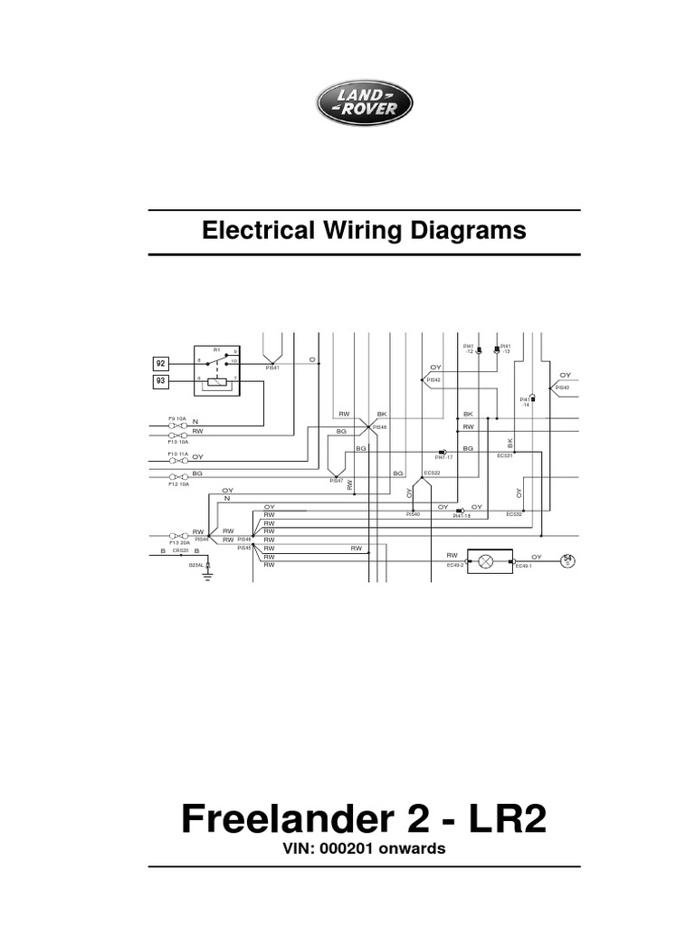 Freelander 2 Wiring Diagram Manual Guide Land Rover Rh Scribd Com