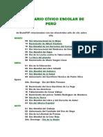 Calendario Cívico Escolar de Perú 2014