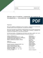 NCh0234-67 Método de Muestreo