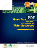 Green Accounting and Data Improvement for Water Resources