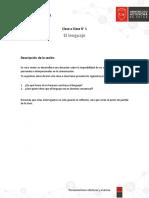 Clase a Clase El Lenguaje (3)