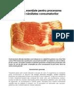 Grăsimile, esențiale pentru procesarea cărnii și sănătatea consumatorilor