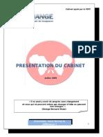 Presentation Du Cabinet