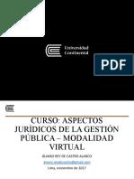 Presentación Aspectos Jurídicos de La Gestión Pública Modalidad Virtual 2 de Noviembre 2017