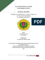 Journal Reading Hubungan Rokok dengan Fungsi Kognitif pada Skizofrenia