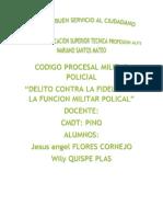 Codigo Procesal Militar Policial Trabajo
