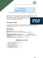 Pauta de evaluación Sitio web