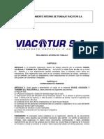 Reglamento Interno de Trabajo Viacotur Para Entregar