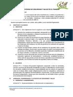 Reglamento Interno de Sst Aceros Mp Corregido