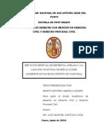 EJECUCIÓN ESPECIAL DE SENTENCIA APELADA Y LA SANCIÓN OPORTUNA DE LAS INFRACCIONES ADMINISTRATIVAS EN EL DISTRITO DE WANCHAQ Tesis Marco Antonio Abarca Alfaro