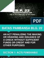 BP blg. 22
