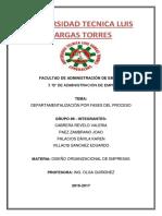 Departamentalización Por Fases Del Proceso