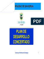 Plan de Desarrollo Concertado San Borja Lima Peru