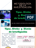 Tipos, Niveles y Diseño de Investigacion - Arquitectura