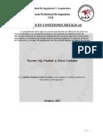 UNIONES en CONEXIONES -Diseño en Acero y Madera