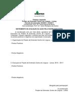 Instrumento de Avaliação Da Ação CEL Letras 2015-2017