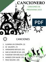 Canciones 2015 Prejovenes