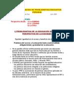 3 PERSPECTIVAS PARA SISTEMATIZAR LA PROBLEMATICA EDUCATIVA PERUANA