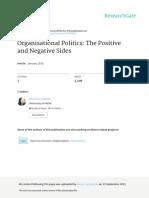 Organisational Politics the Positive &