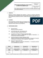 IC-GSI-03 R1 2010-09-08 Identificación de Aspectos y Evaluación de Impactos Ambientales