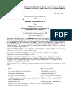 Imagination Technologies Announcement of Court Sanction