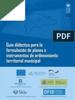 Guia Didactica Para La Formulacion de Planes e Instrumentos de Ordenamiento Territorial Municipal 24 Oct 2014