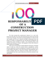 100 Responsabilities of a Construction Project Manager