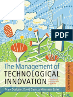 The Management of Technological Innovation Strategy and Practice (2008)