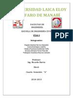 Informe Del Calculo de 2k de Vias El Rodeo Rocafuerte
