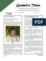 April 2007 Gambel's Tales Newsletter Sonoran Audubon Society