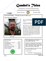 December 2008 Gambel's Tales Newsletter Sonoran Audubon Society