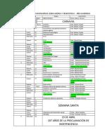 Cronograma de Clases III Rotación de Clínica Médica y Terapéutica i 2016-2017