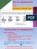 Operciones de Conminucion