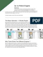 Diesel Engine vs Petrol Engine