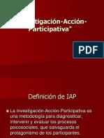 4.Investigación Acción Participativa (IAP)