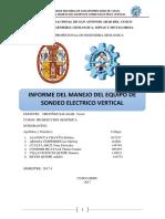 SONDEO ELÉCTRICO  VERTICAL (SEV) DE KAIRA-UNSAAC